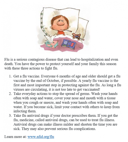 Flu Statement - General flu tips and information