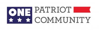 One patriot, one community logo