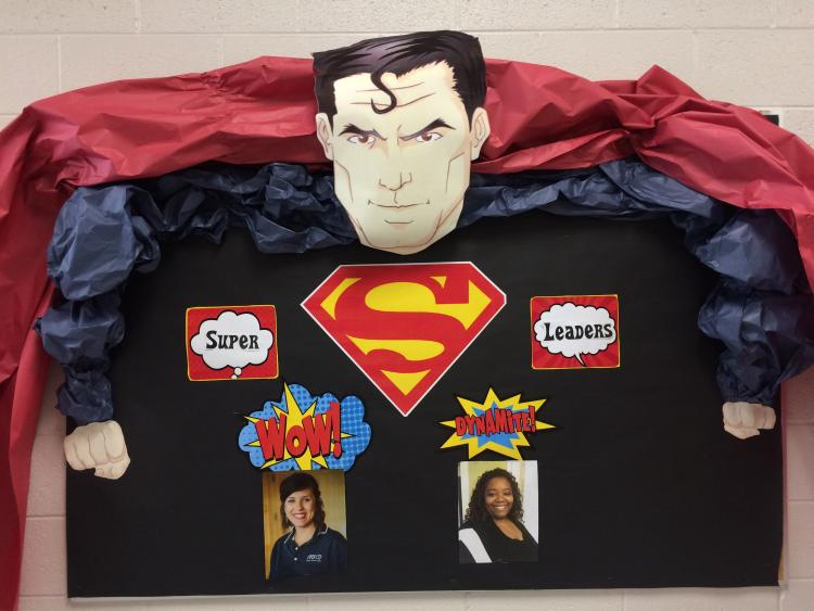 Super Hero Bulletin Board Front Office