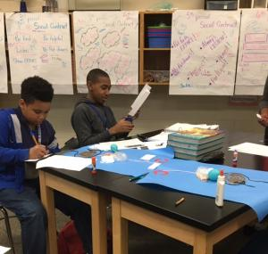 Students in Mrs. Hosman's Science classes created a model of the Digestive System.