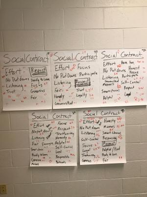 Ms. Bakers's Classroom Social Contract