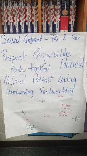 Mrs. Mason's Classroom Social Contract
