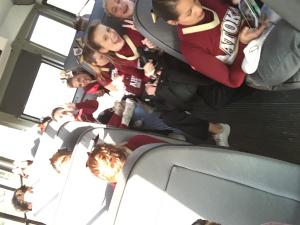 Bus ride to a game!