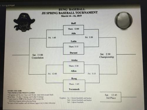 JH Baseball Tournament