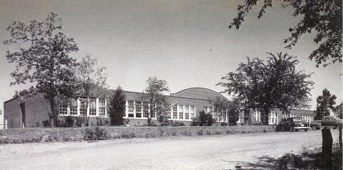 Old Atoka High School Building that was located on the hill