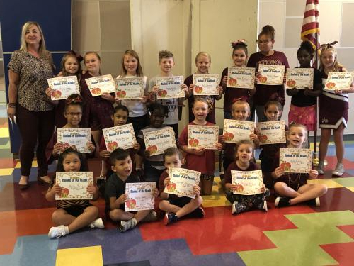 AES AUGUST STUDENTS OF THE MONTH