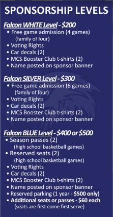 MCSBC Sponsorship Levels