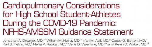 Cardiopulmonary Considerations for High School Student-Athletes