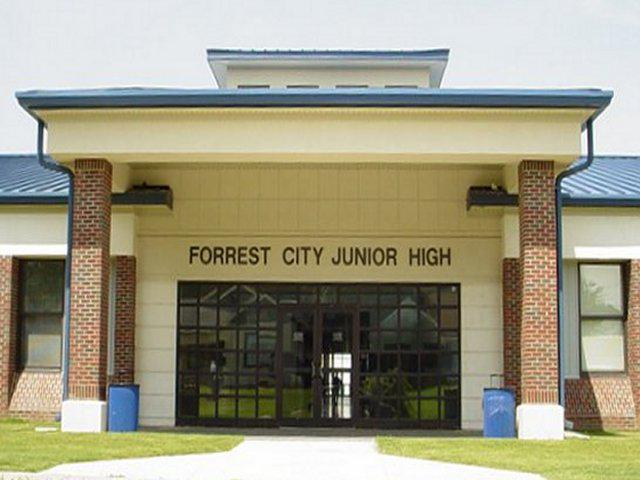 Landscape View facing Forrest City Junior High School