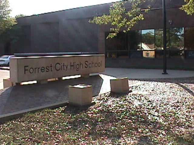 Landscape View facing Forrest City High School