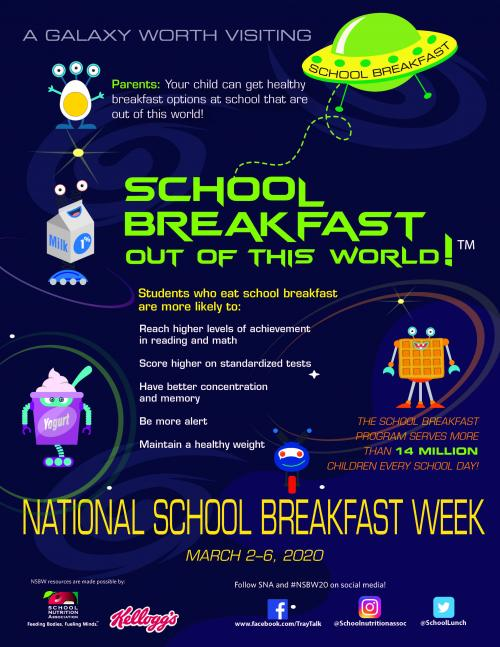 National School Breakfast Week 2019-20 Info