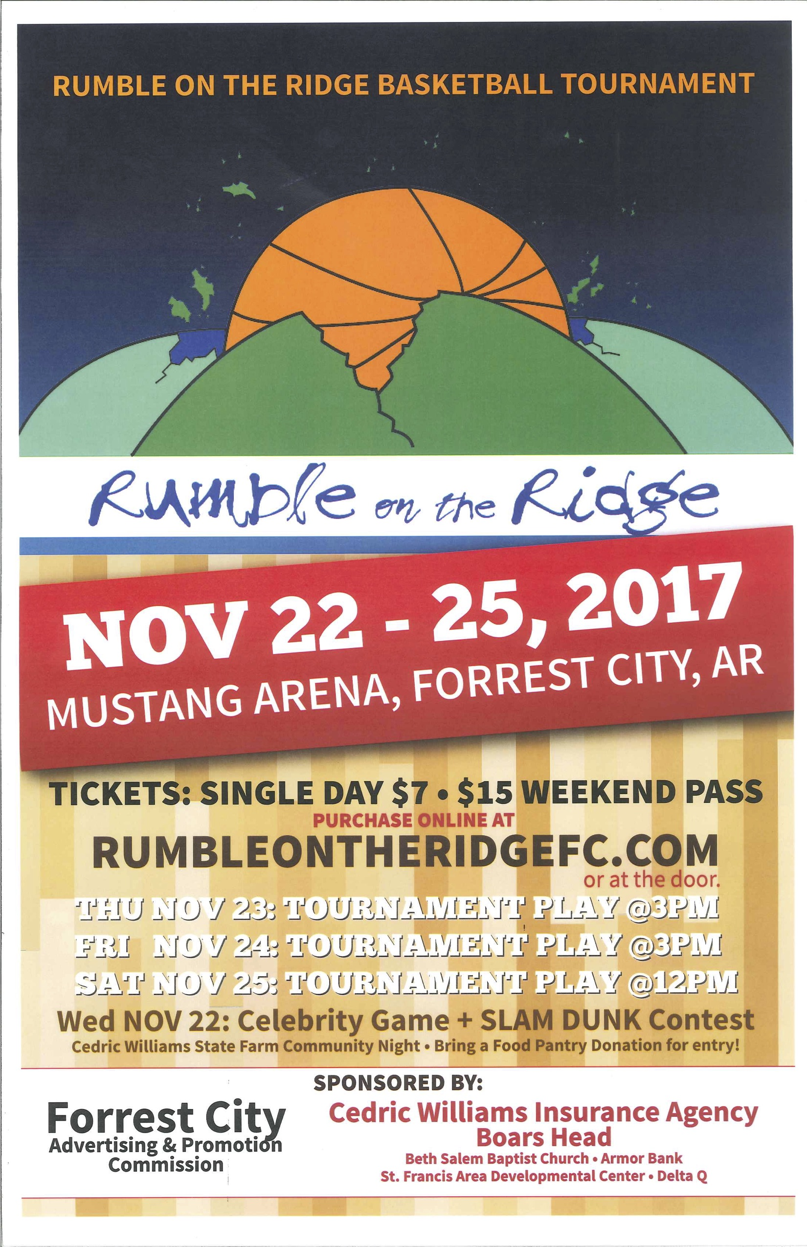 Rumble on the Ridge Poster - Tournament Info