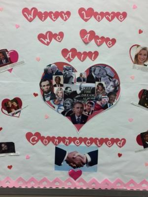 February:  Black History, Valentines Day, Presidents Day