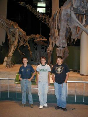Jesse, Zeke, Ryan at Sam Noble Museum
