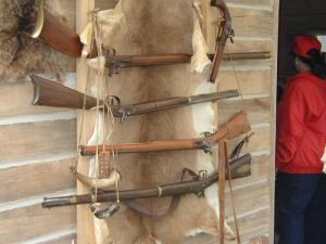 Assorted blackpowder rifles