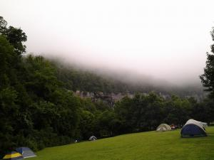 The Steele Creek Campground in the morning