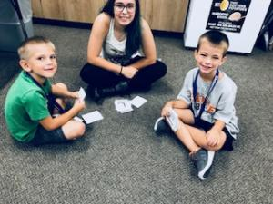 Mrs. Wertenberger's Human Growth and Development class and Mrs. Lueger's Kindergarten class enjoyed participating in a fun Kagan Cooperative Structure called Fan N Pick (My Favorite Things) to get to know each other.