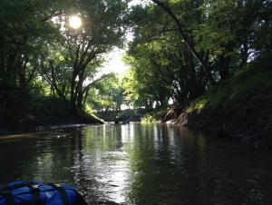 Kayaking the Black Vermillion River.