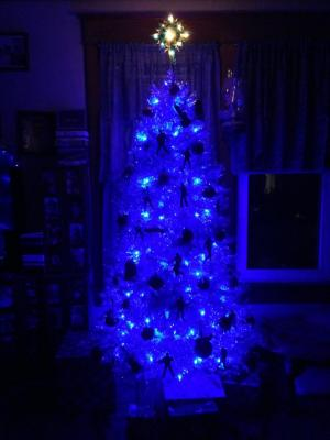 My Blue Elvis Christmas tree.