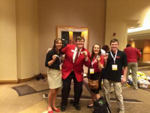 Frankfort FCCLA members with National Officer Taylor Spangler