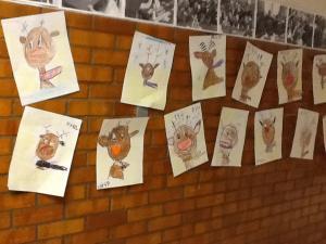 December Art Project - Reindeer Portraits