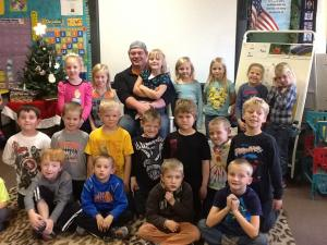 Joey Ferron-Washburn University football player and Centralia School Graduate came to visit our class.