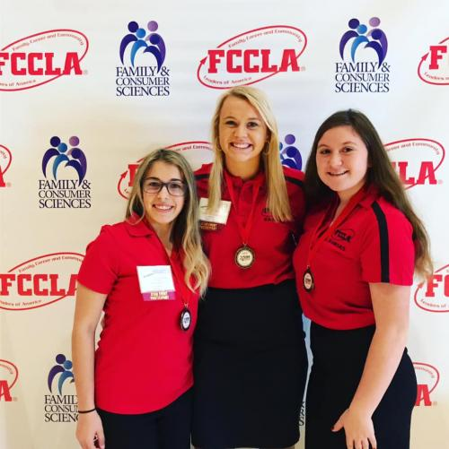 FCCLA  State Leadership Conference Maddy, Riley and Jenri
