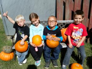 Enjoying our pumpkins!