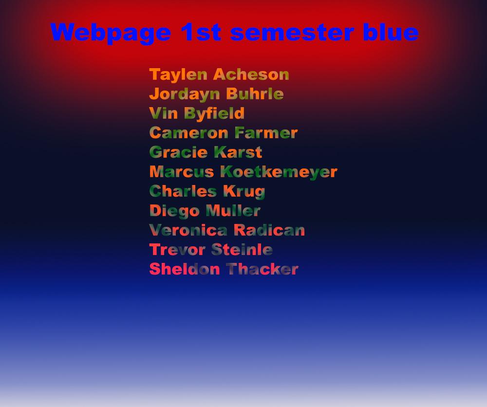 webpage blue