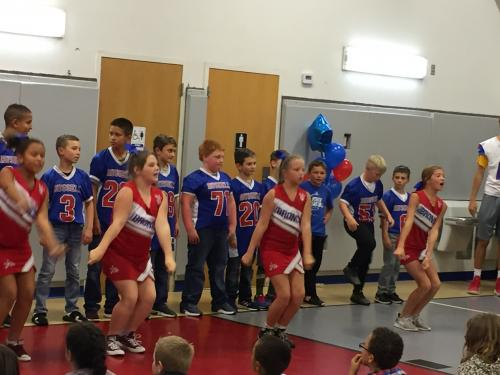 Russell Jr. Broncos Pep Assembly