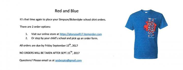 PTO Shirt Order Form
