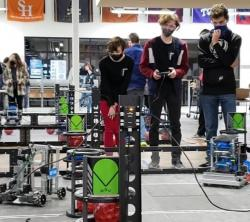 Robotics Team Competes at Battle by the Brazos Tournament