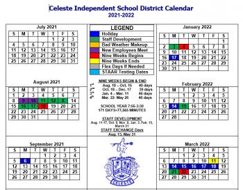 Asu Fall 2022 Calendar.Celeste Isd 2020 2021 Blue Devil News