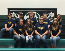 FFA OFFICERS ATTEND DISTRICT IV LEADERSHIP CAMP