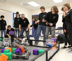 Thumbnail Image for Article High School Robotics Team Competes at Vex Robotics Tower Takeover