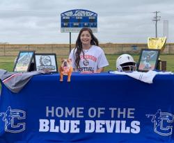 Softball Signing Day for Celeste High School Senior, Heather Hudson