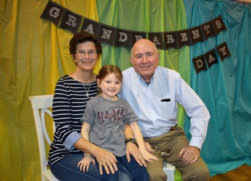 Grandparents Day at Celeste Elementary