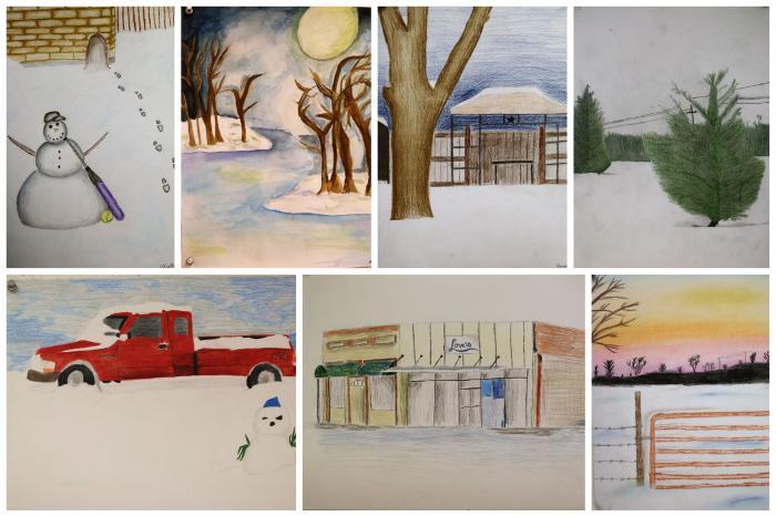 Art Show 2021 Winter Storm Sketchbook