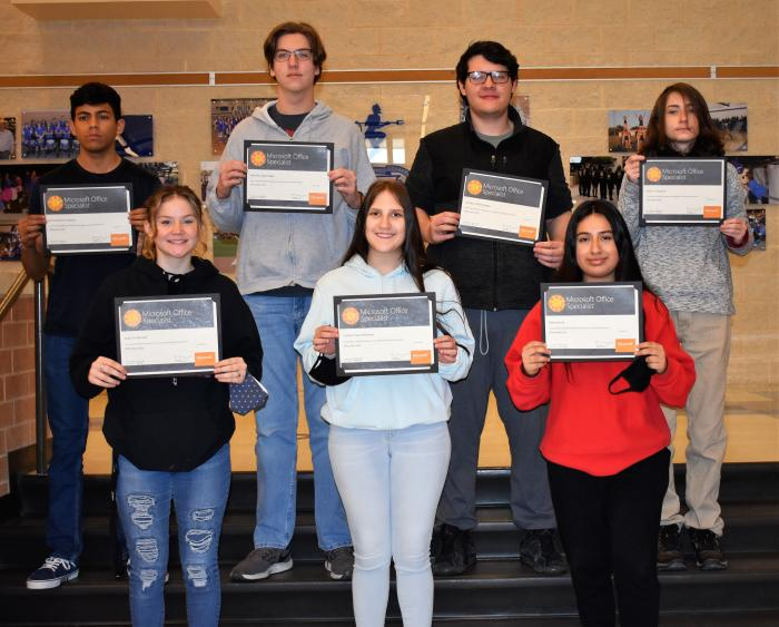 HS Students Achieve Microsoft Office Specialist Certifications