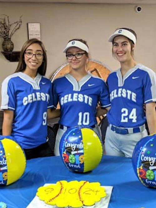 Softball Senior Night District Champs