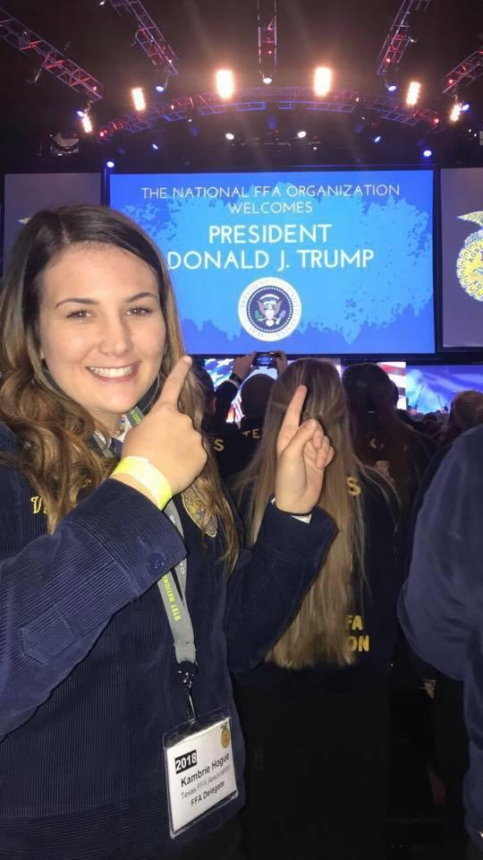 Kambrie at National FFA Convention