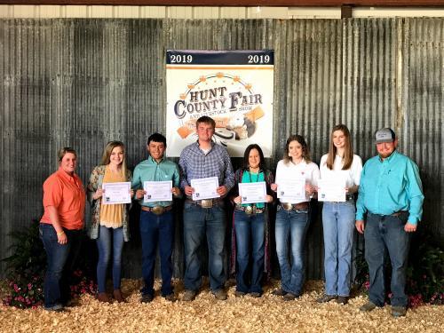 Hunt County Fair 2019 - Phil Garret Scholarship Recipient