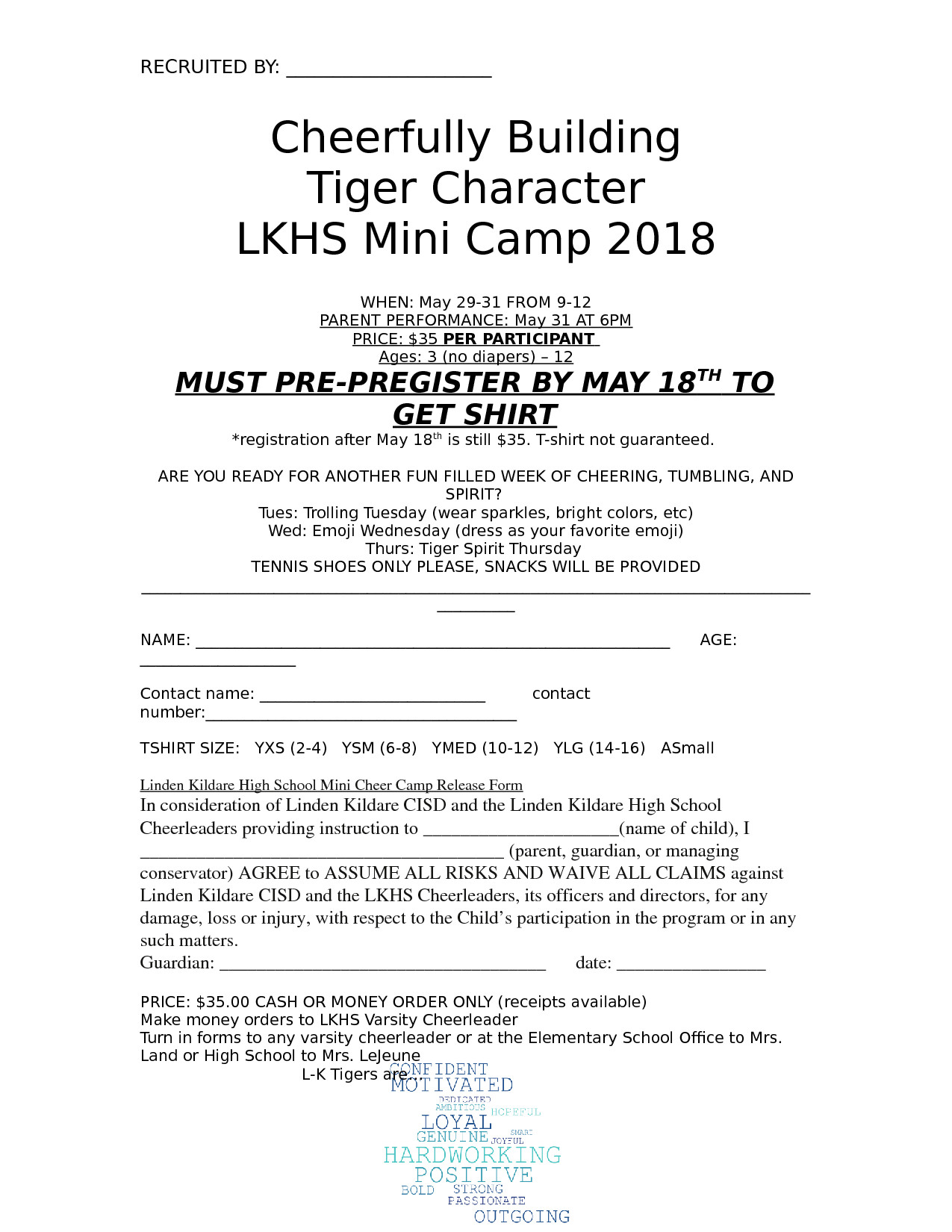 Mini Cheer Camp Info