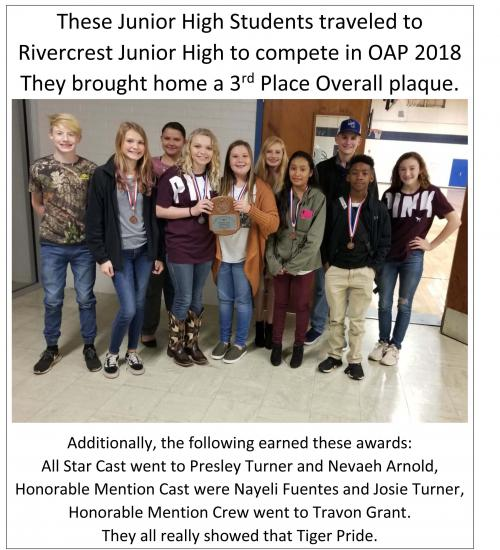 JH One Act Play in Rivercrest 12 12 2018