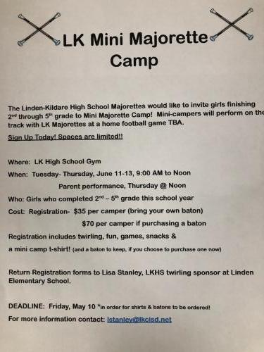 LK Mini Majorette Camp