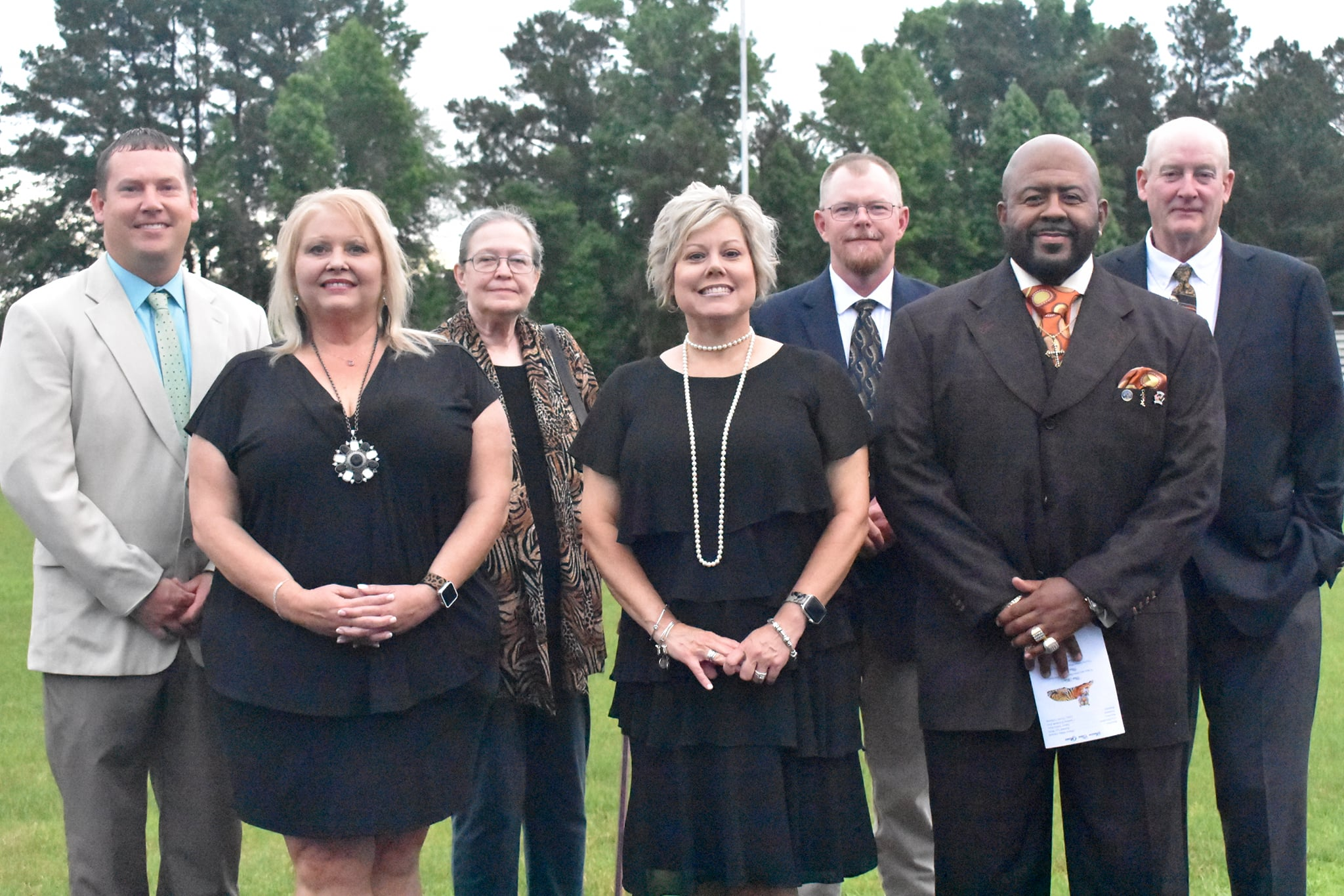2020-2021 Board Members pose for picture at graduation