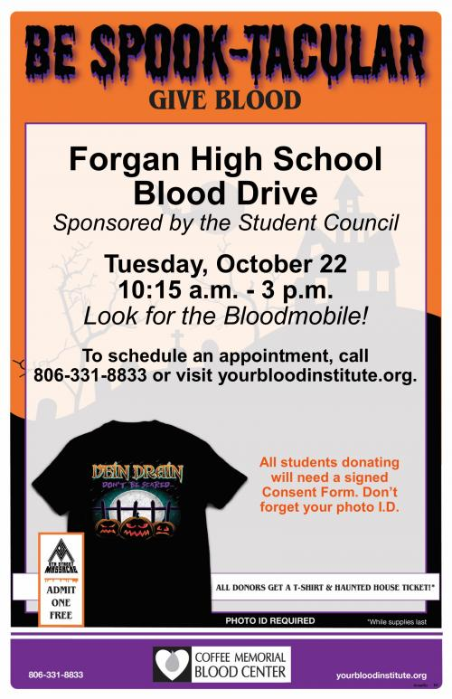 Blood drive Oct 22