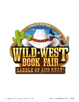 wild west scholastic book fair with cowboy hat