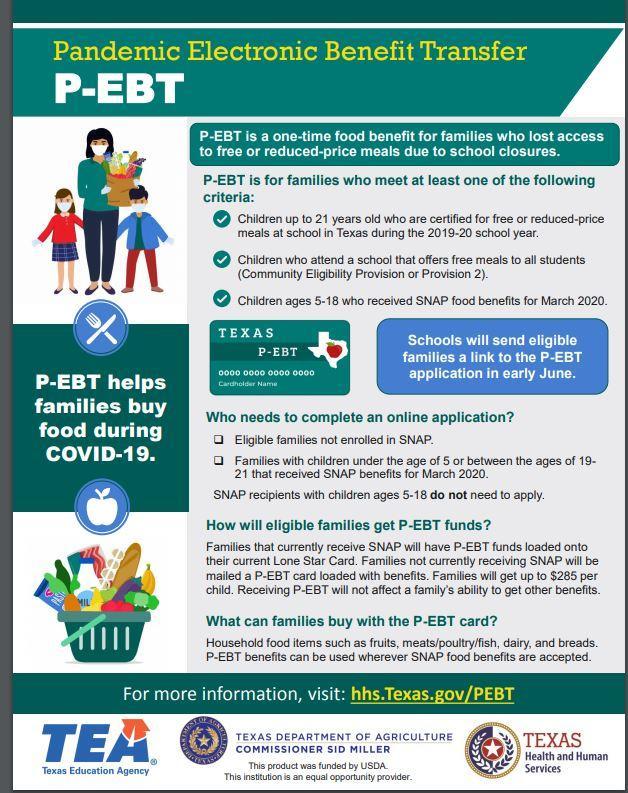 Online P-EBT Application Now Open