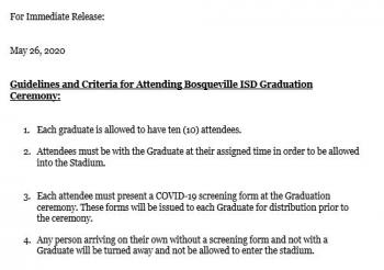 2020 Graduation Guidelines